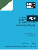 403 Diseño y Construcción de Estructuras de Mampostería.
