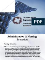 Administration of Nursing Education in the  Philippines