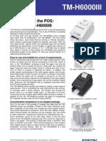 Epson TM-H6000III Thermal Impact Printer Brochure