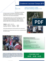 2013 Cranbrook Boys and Girls Lacrosse Camp