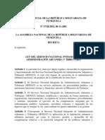Ley Del Servicio Nacional Integrado de Administracion Aduanera y Tributaria
