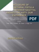 Nonclosure of Rectourethral Fistula During Posterior Sagittal Anorectoplasty