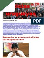 Noticias Uruguayas Viernes 5 de Julio Del 2013