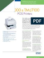Epson TM-J7100 Multifunction POS Inkjet Printer Brochure