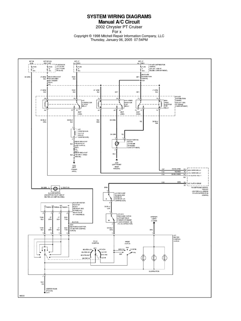Chrysler Pt Cruiser Diaggramy El Mitchell Wiring Diagrams
