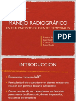 Radiología en traumatismo de dientes temporales