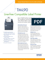 Epson TM-L90 Liner-free Compatible Label Printer Brochure