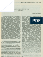 Analítica del Recurso del Método -  Gerardo César Hurtado