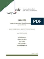 Parecer ASJP Projecto de Revisão do CPA