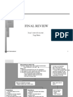 Review Final corporate finance