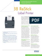 Epson TM-T88 ReStick Label Printer Brochure