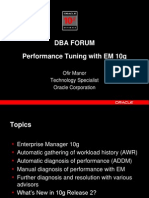 Performance Tuning with EM 10g