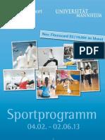 Sportprogramm Mannheim 2013