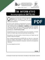 Boletim Informativo Sinttel Act 2013 2015