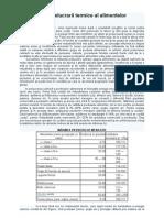 Efectele Prelucrarii Termice Al Alimentelor