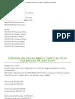 Grand Theft Auto From Liberty City - Códigos - Xbox 360 (Portal do Xbox 360)