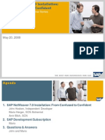 SAP NetWeaver 7.0 Installation From Confused to Confident
