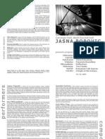 Jasna Popovic - Program