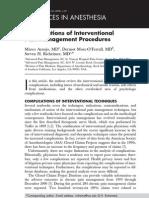 Complicaciones de Intervencionismo en Terapia Del Dolor