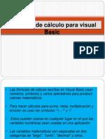 Formulas de Calculo Para Visual Basic