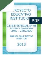Proyecto Educativo Institucional 2013 Cebe 06