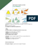 Clasificación de triángulos según sus ángulos y sus lados