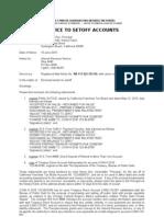 Notice to Setoff Accounts