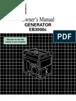 Honda owner's manual