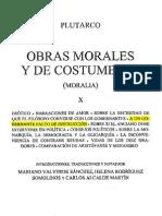 Tomo X - OBRAS MORALES Y DE COSTUMBRES - Plutarco - A UN GOBERNANTE FALTO DE INSTRUCCIÓN