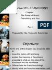 Elective 103 - FRANCHISING Chapter 1 Upload