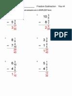Frac Subtraction Diff Denom Ans