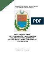 Reglamento Para El Estatuto Autonomico Cbba