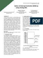 FPGA Implementation of Interrupt Controller (8259) by using Verilog HDL