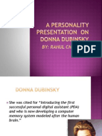 Ppt About Profile of Donna