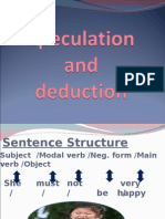 Speculation and Deduction 2