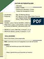 ASIGNATURA DE PARASITOLOGÍA-2009-2010