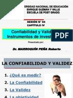 Confiabilidad y Validez de Instrumentos de Investigacion