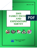 2003 Family Income Expenditure Survey