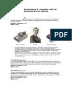 Microprocessor Timeline