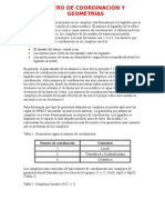 NÚMERO DE COORDINACIÓN Y GEOMETRÍAS
