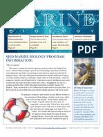 Marine Biology Informational Booklet 2010