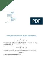 Coeficientes de Fourier de Sinal Discretizado