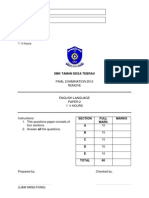 Remove English Final Exam 2012 Paper 2