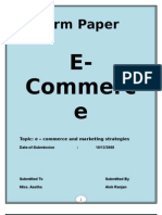 E-comerce and Marketting Strategies