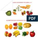 Alimentos Que Contienen Vitamina