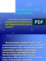 The Leadership Style of Obama