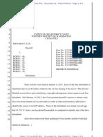 Order of Dismissal R&D Film, 1