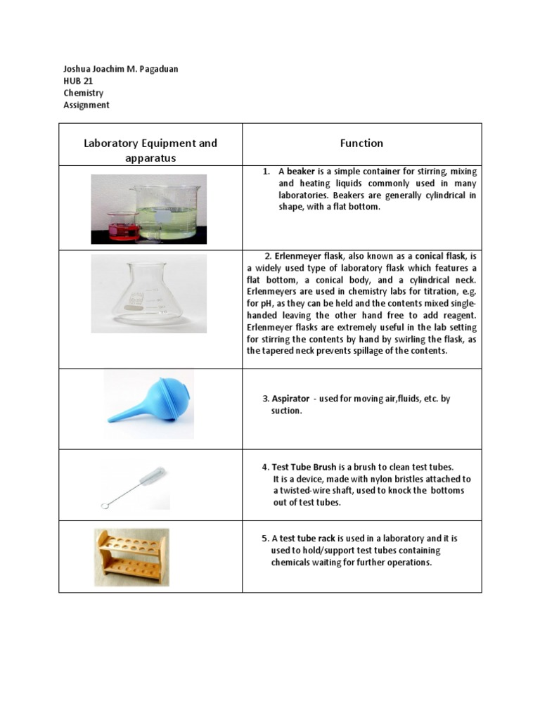 chemistry apparatus laboratories