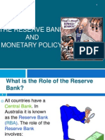 The Reserve Bank and Monetary Policy