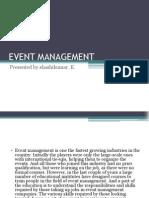 Event Management Shashikumar23